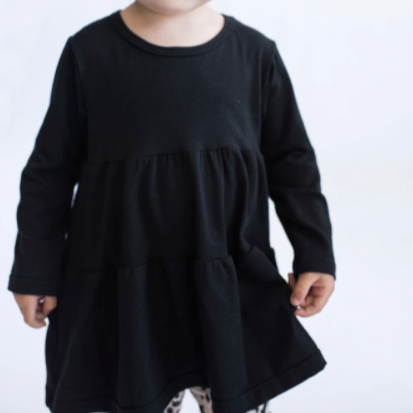 Tiny Button Apparel Long Sleeve Twirl Top