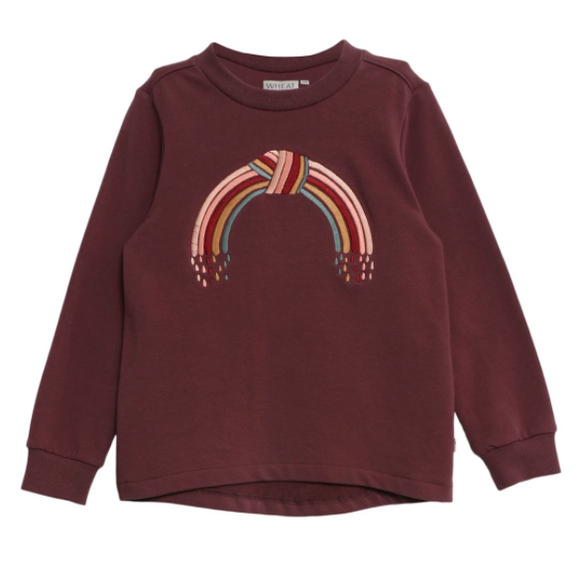Wheat Youth Embroidery Rainbow Sweatshirt