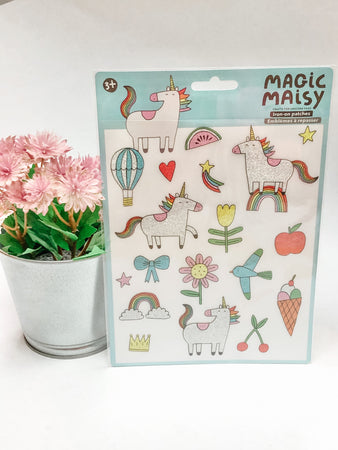 Magic Maisy Iron On Glitter Patches