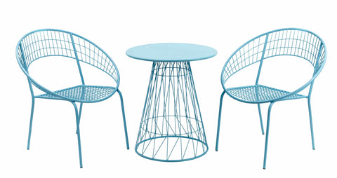 Chauvigny 2 Seater Bistro Blue/ Pink