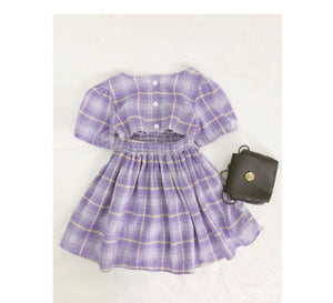 "Let's ""Plaid"" Outside-Dress"