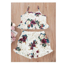Load image into Gallery viewer, Rosebuds Crop Top Set