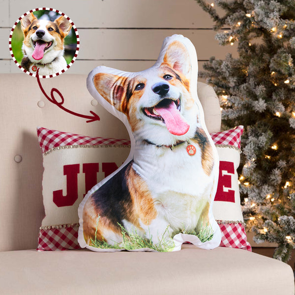 Custom Photo Pet Face Personalized Pillow 3D Portrait Pillow - Cat