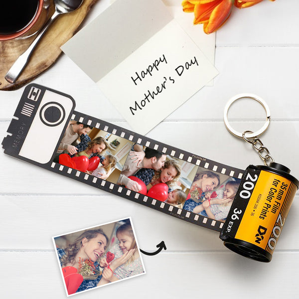 Mother's Day Gift Custom Keyring Colorful Camera Roll Keychain Romantic Customized Gifts