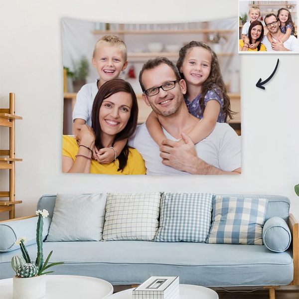 Custom Photo Tapestry Wall Decor Personalized Tapestry