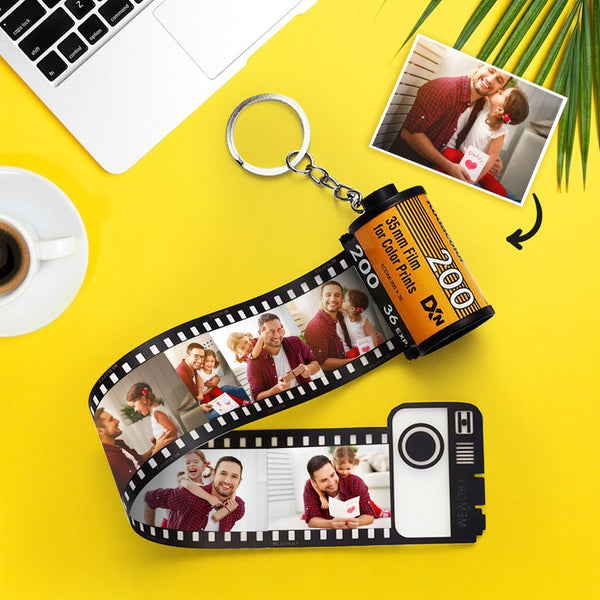 Father's Day Gift Custom Keyring Colorful Camera Roll Keychain Romantic Customized Gifts
