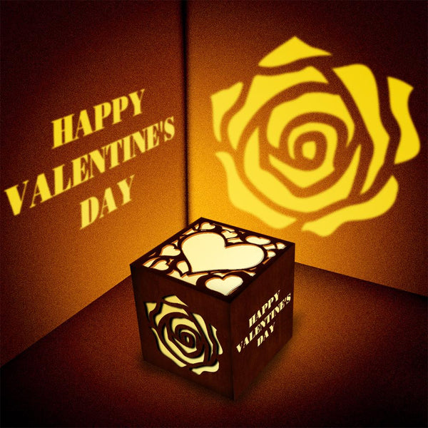 Customized Woodcut Projection Lamp Night Light For Your Lover