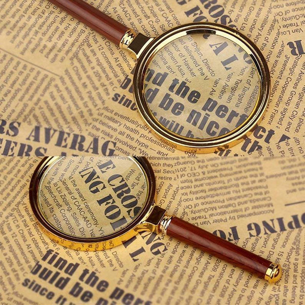 Magnifying Glass(60mm 8 times), Tool For The Elderly To Make Newspaper Jigsaw Puzzles