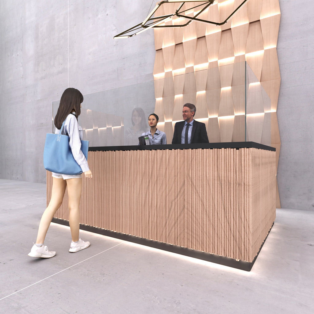Reception Counter Screen