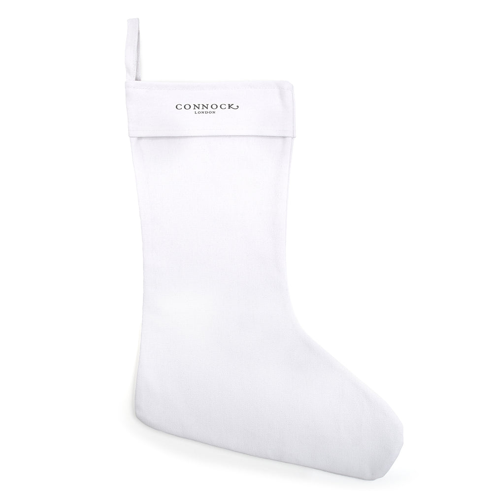 White Canvas Christmas Stocking