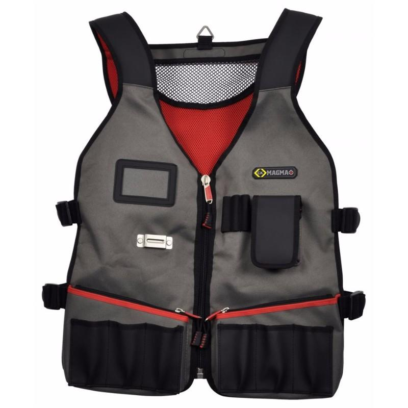 Heavy Duty Technicians Tool Carrier Vest with 14 Pockets