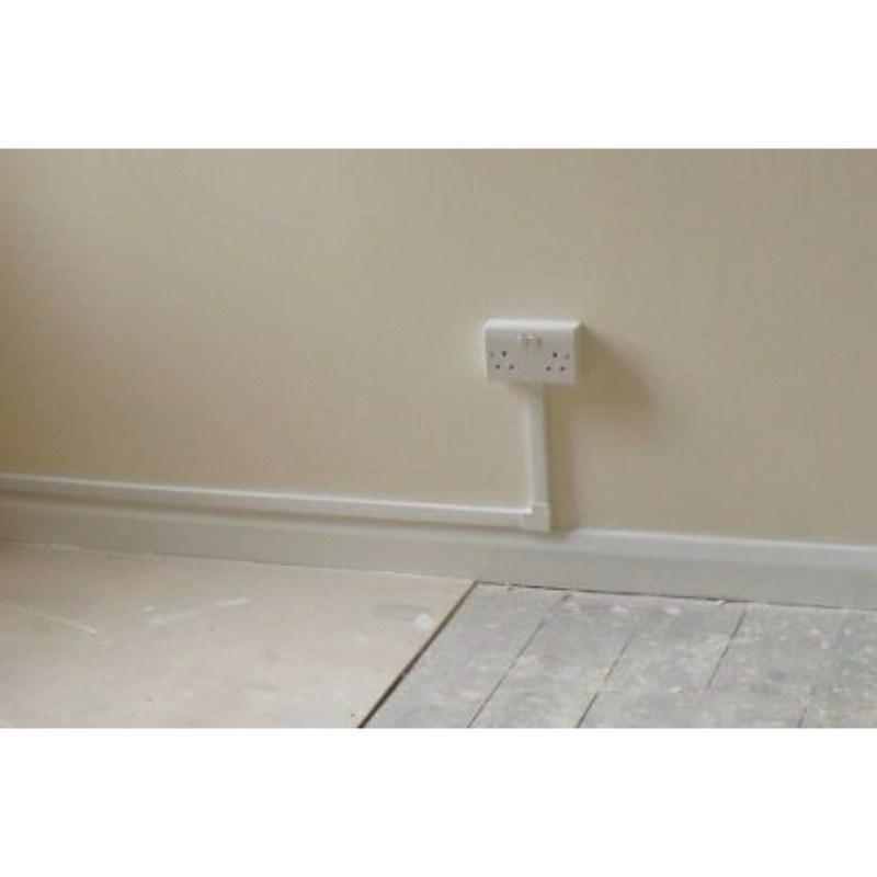 16mm x 16mm Self Adhesive Mini Trunking - 1m