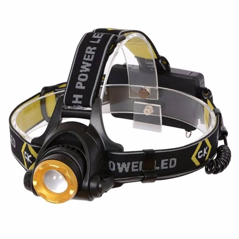 Rechargable 200 Lumen Bright IP64 Rated Large LED Head Lamp Torch Flashlight