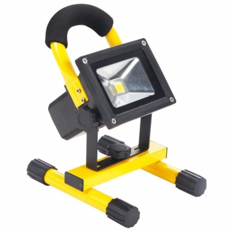 Rechargeable 10W 600 Lumens Bright IP65 LED Site Flood Light