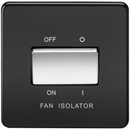 10A 1G 3 Pole 230V Screwless Matt Black Electric Fan Isolator Switch