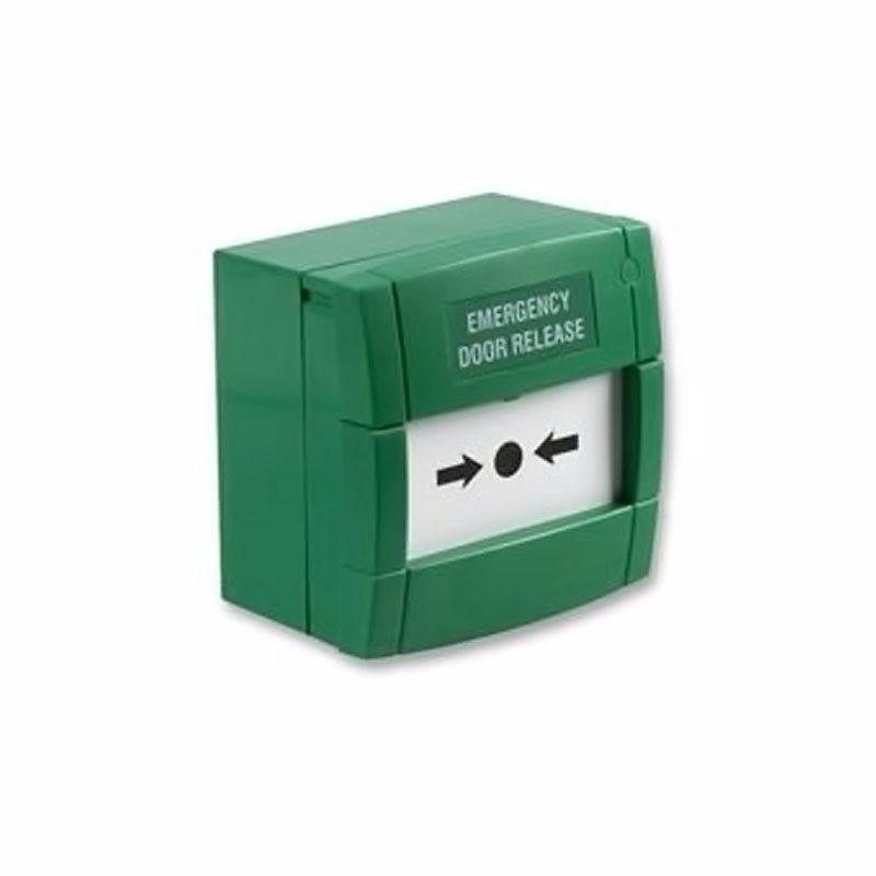 Resettable Single Pole Green Call Point Emergency Door Release