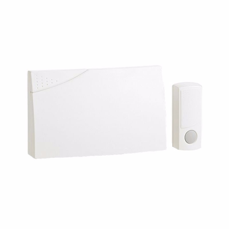 Ambassador 150m Range Wireless Door Bell Chime & Push Kit - White