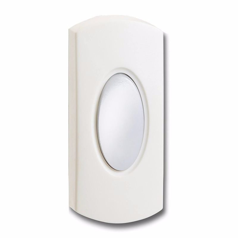 Wired White Bell Push Doorbell Switch Transmitter Illuminated