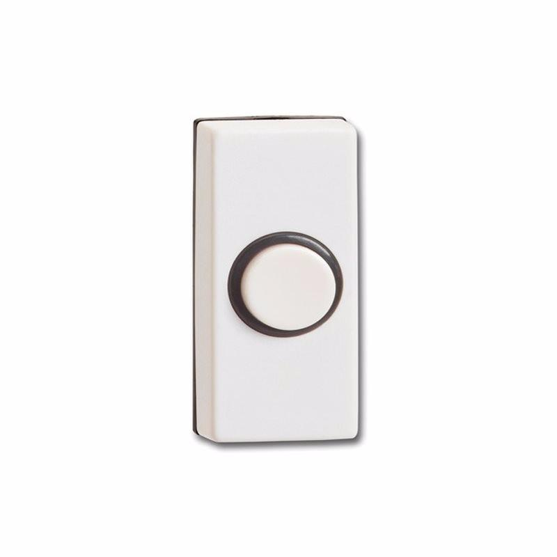 Wired White Black Bell Push Doorbell Switch Transmitter