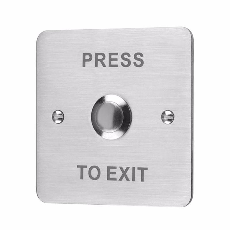 Flush Stainless Steel 12V Door Switch Push To Exit Button
