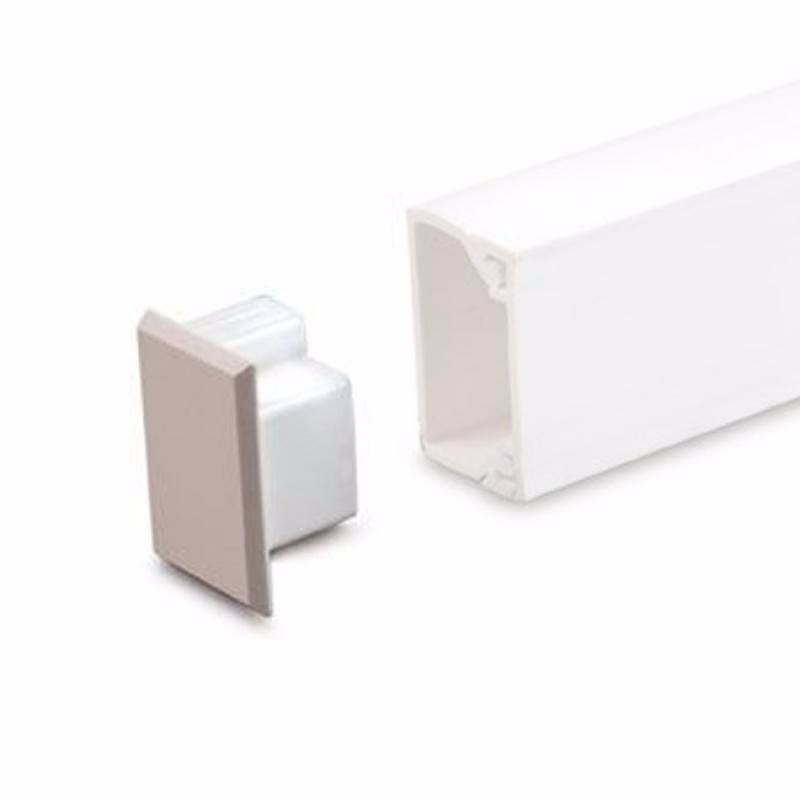 38mm x 38mm Mini Trunking Accessories - Stop End