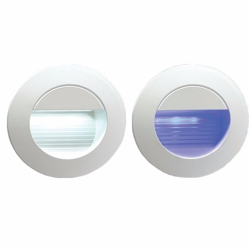 IP54 Round LED Recessed Stair & Wall Guide Light -Blue