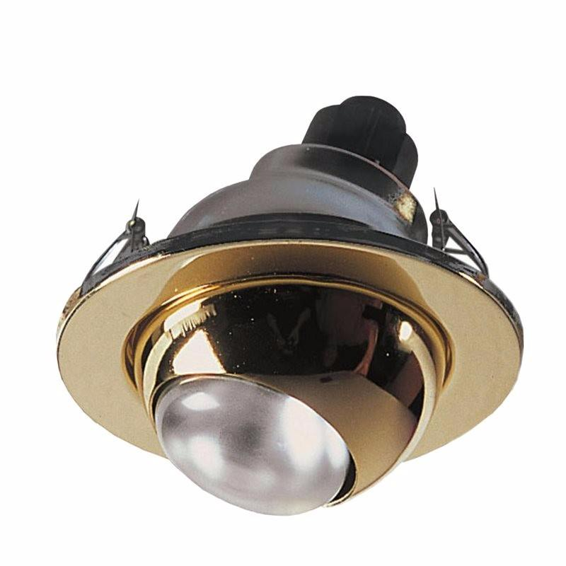 R63 ES 60W 230V Eyeball Downlight - Brass