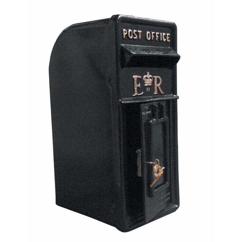 Wall Mounted Traditional Black Letter Box Antique
