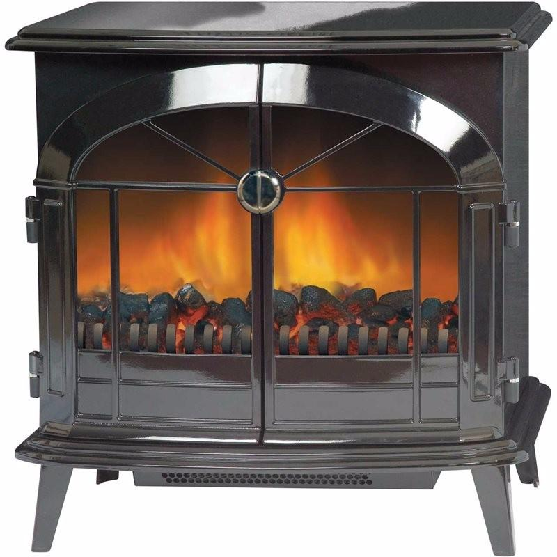 StockBridge 2kW Optiflame Electric Stove - Black