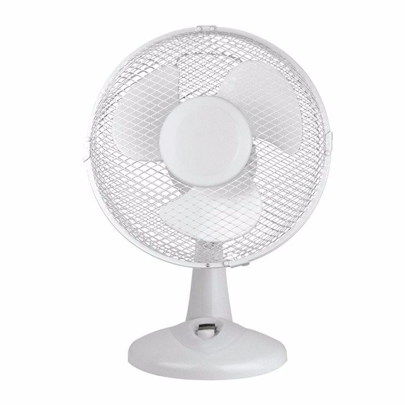 White 9 Inch Oscillating Portable Desk Fan