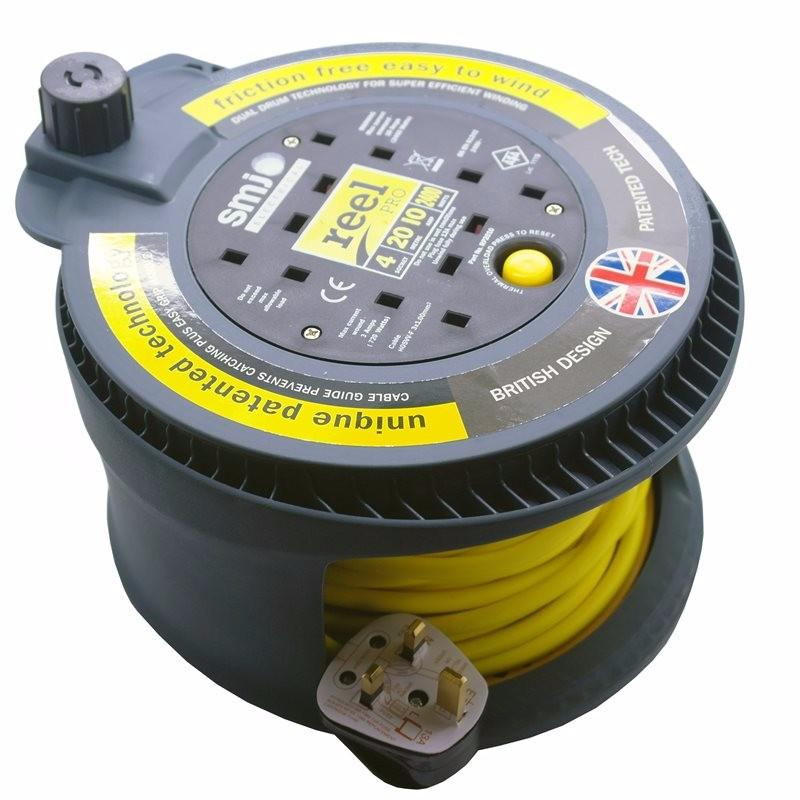 Reel Pro 20m 4 Gang with Thermal Cut-Out