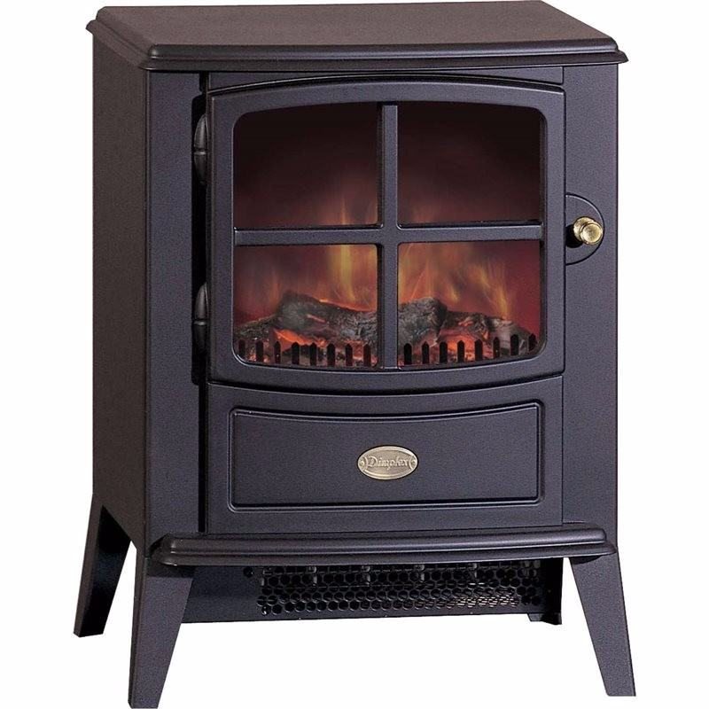 Brayford Optiflame Traditional Cast Iron Style Electric Stove
