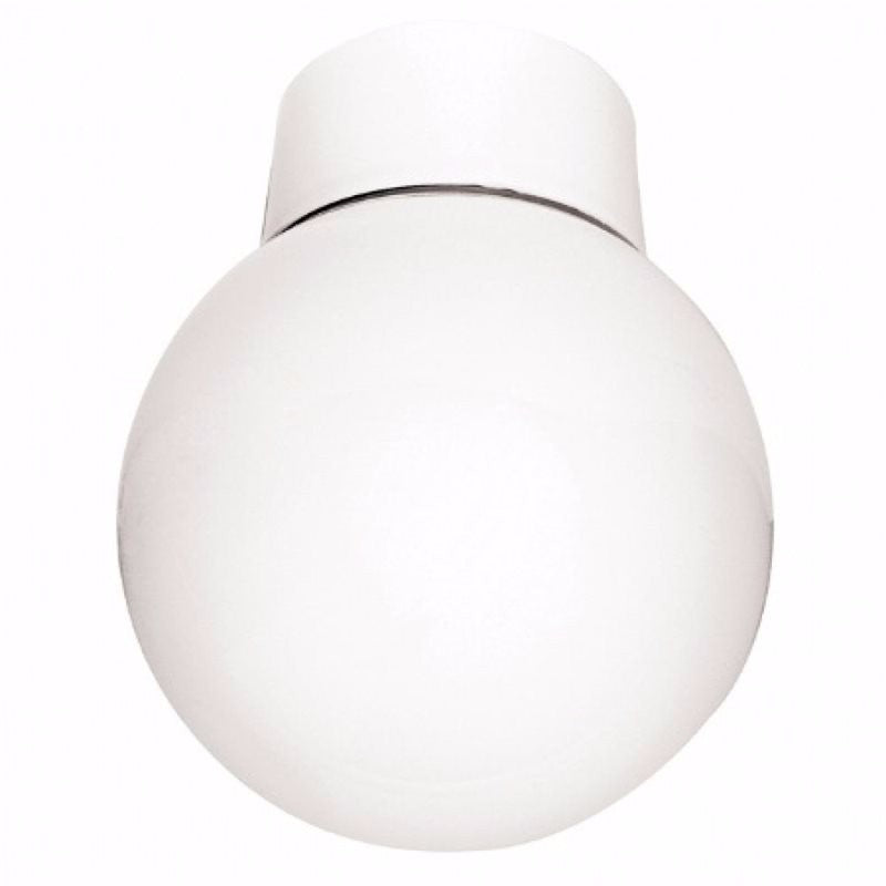 60W Opal Glass Bathroom Globe Ceiling Light