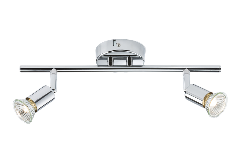 Ceiling Light GU10 50 Watt 2 Spotlight Bar Chrome LED Compatible