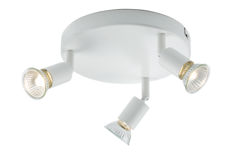 Ceiling Light GU10 50 Watt 3 Spotlight Bar White LED Compatible