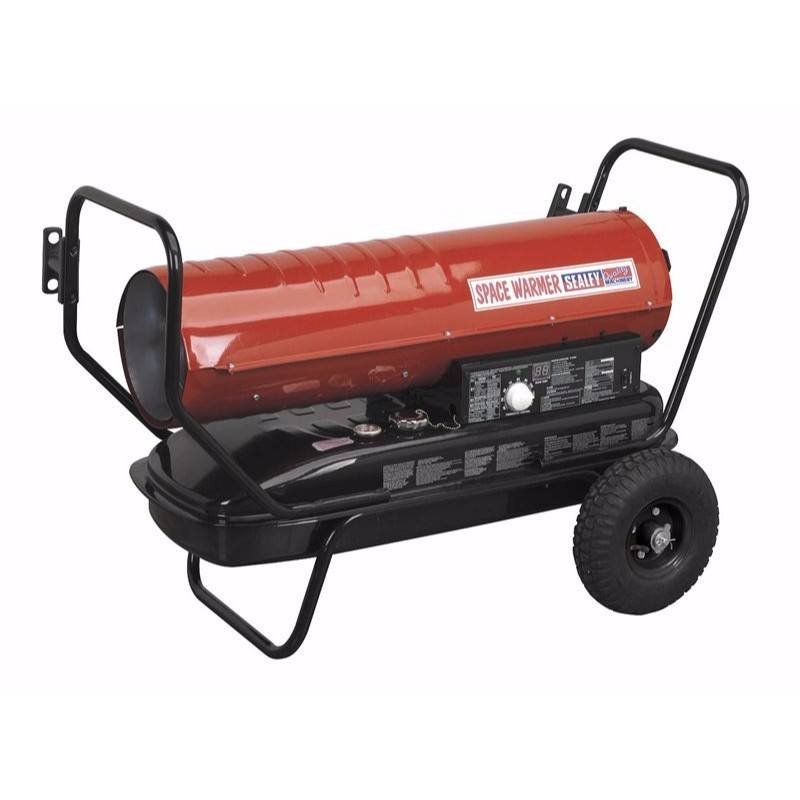 Portable Space Warmer Diesel Heater 100kBtu/hr with Wheels