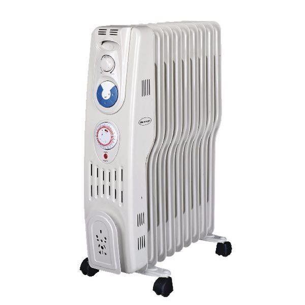 2kW S Type Oil Filled Radiator With Timer