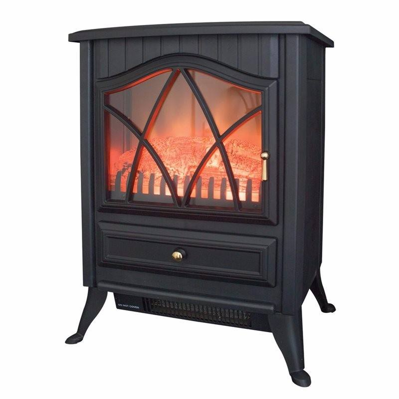 Traditional Cast Iron Electric Stove - Black