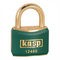 40mm Brass Padlock with Green Plastic Coating