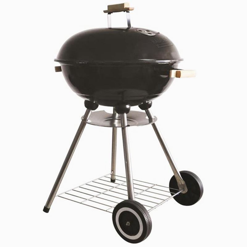 "18"" Portable Black Barbecue With Enameled Finish"