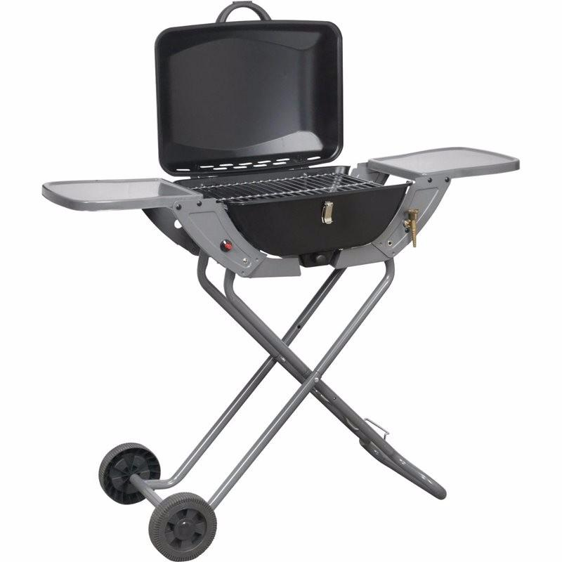 Portable Propane/Butane Folding Gas Barbecue With Wheels & Handle