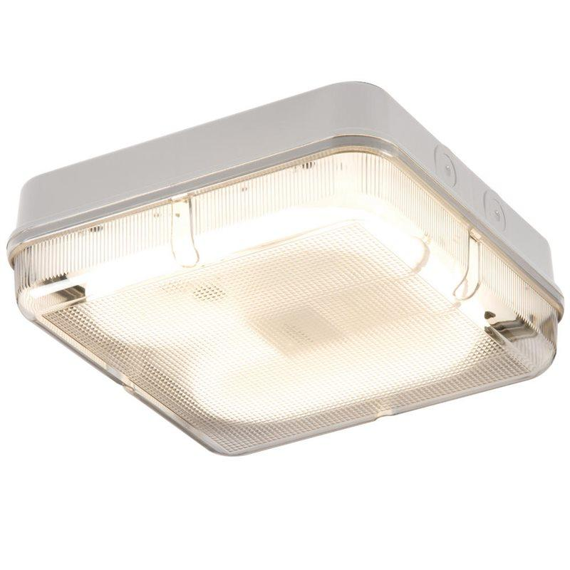 28W IP65 Square Bulkhead & White Base