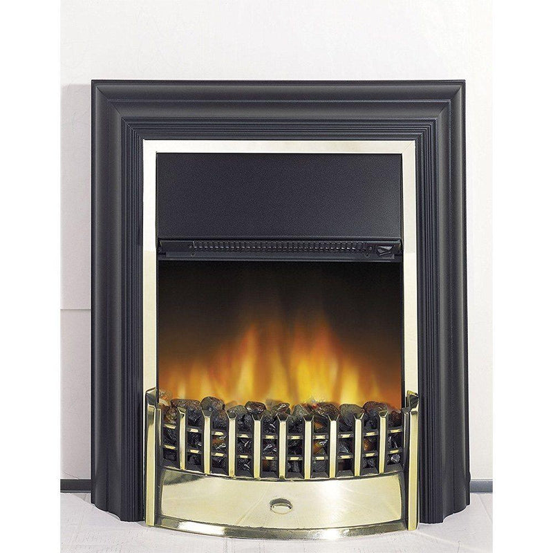 Cheriton Freestanding Electric Fire - Black & Brass (2019 Model)