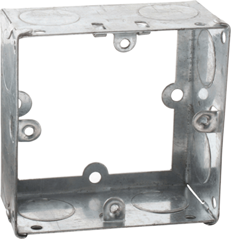 1G 35mm Galvanised Extension Back Box