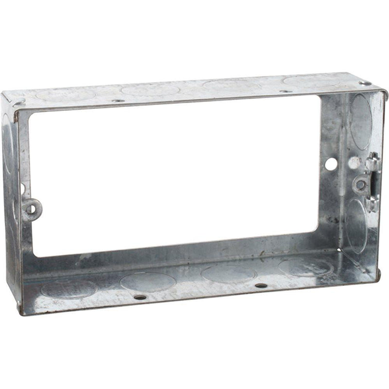 2G 35mm Galvanised Steel Extension Box