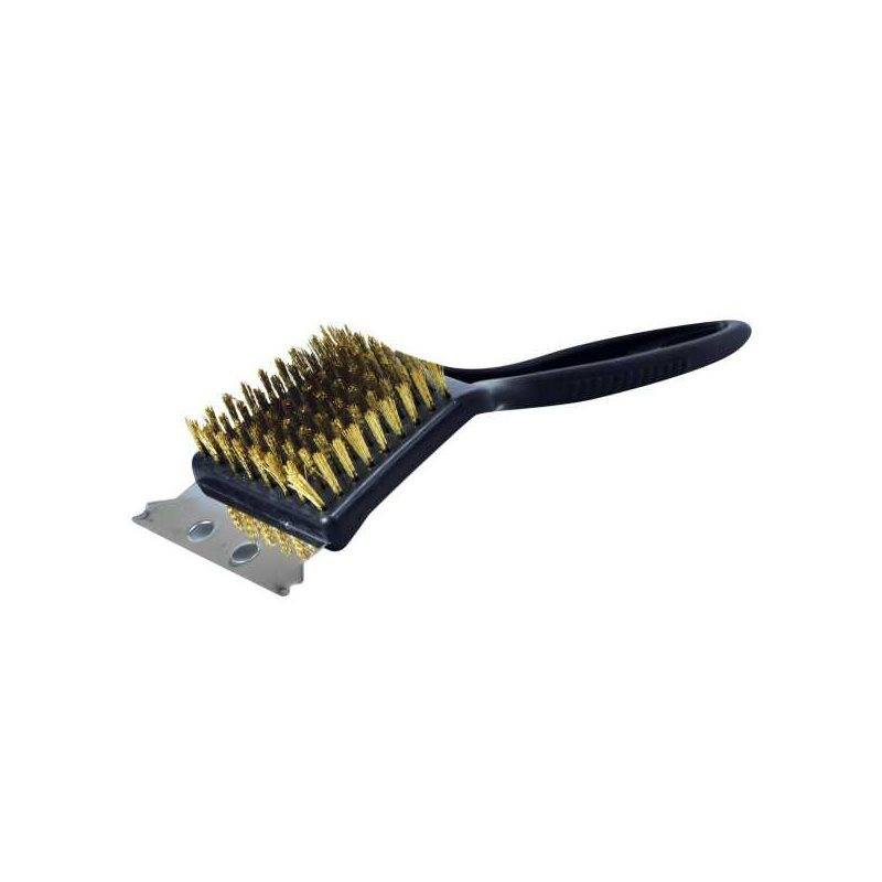 BBQ Brass Cleaning Brush with Metal Scraper