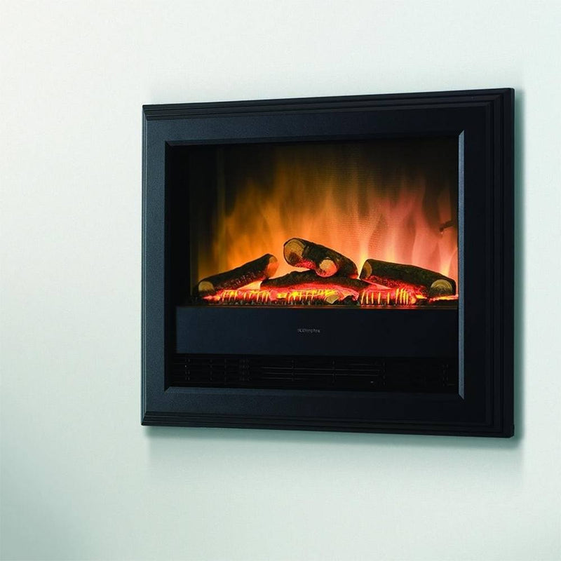 Bach Wall Mounted Electric Fire - Black