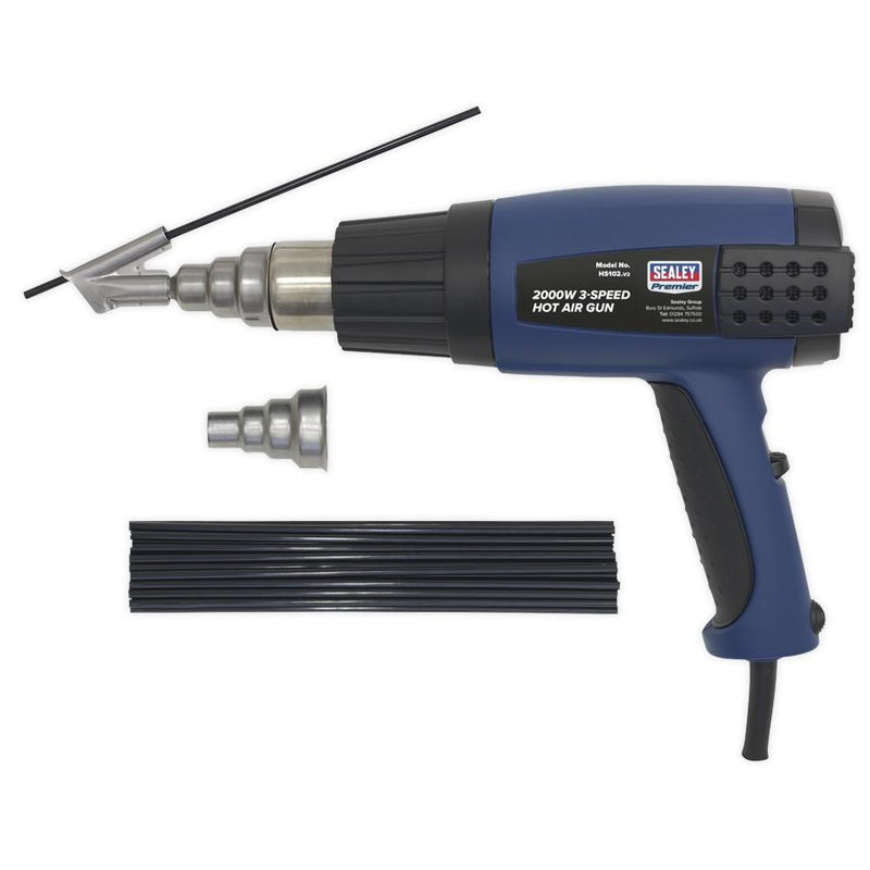 Plastic Welding Kit with Hot Air Gun