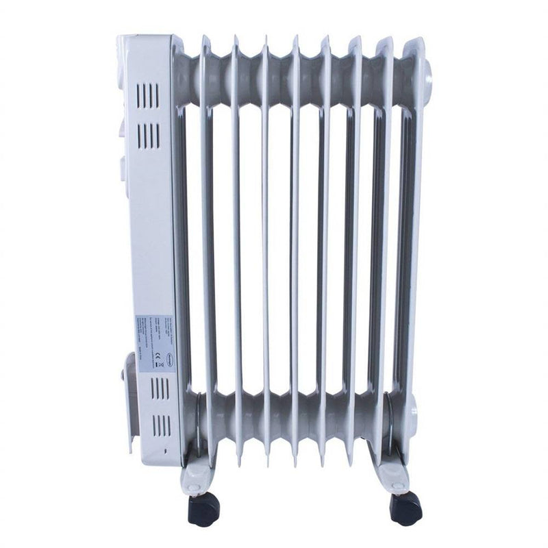 2Kw 9 Fin Oil Filled Radiator with Timer