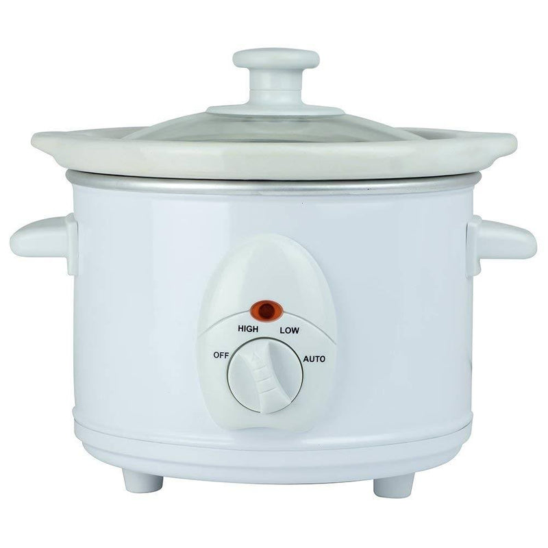 1.5 Litre Round Slow Cooker - White